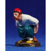 Caganer con barba 6 cm barro pintado Aurora