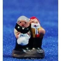 Pastor pareja 1 cm barro pintado Aurora