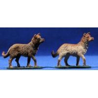 Perro 11 cm barro pintado