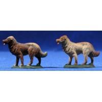 Perro 8 cm barro pintado