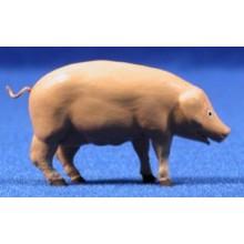 Cerdo 11 cm barro pintado