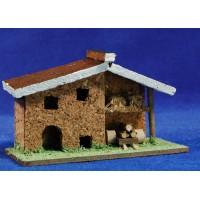Casa con carro 11x5x7 cm corcho