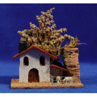 Casa con corral 11x7x9 cm corcho