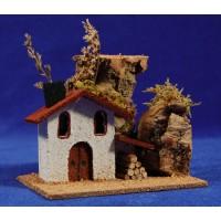 Casa con lenya 11x7x9 cm corcho