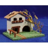 Casa con frutal 11x8x7 cm corcho