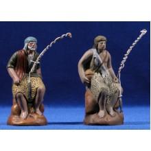 Pescador 12 cm barro pintado Figuralia
