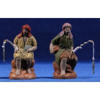 Pescador 7 cm barro pintado Figuralia