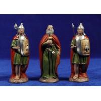 Herodes y 2 soldados romanos 12 cm barro pintado Figuralia