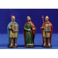 Herodes y 2 soldados romanos 7 cm barro pintado Figuralia