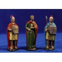 Herodes y 2 soldados romanos 9 cm barro pintado Figuralia