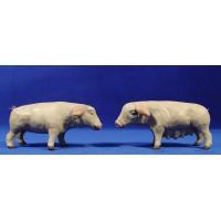 Cerdo 18 cm barro pintado Figuralia