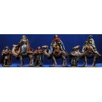 Reyes a camello con ropa 12 cm ropa y barro Figuralia