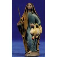 Pastora con gallina 12 cm ropa y barro Figuralia