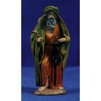 Pastor con conejo 12 cm ropa y barro Figuralia