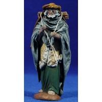 Pastor con leña 12 cm ropa y barro Figuralia