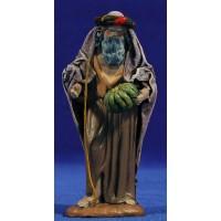 Pastor anciano con calabaza 12 cm ropa y barro Figuralia