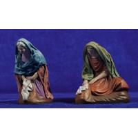 Pastora lavandera 12 cm ropa y barro Figuralia