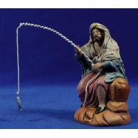 Pescador 12 cm ropa y barro Figuralia