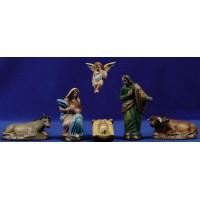 Nacimiento 12 cm barro pintado Figuralia