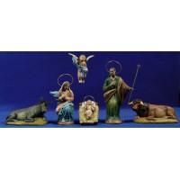 Nacimiento 16 cm barro pintado Figuralia
