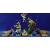 Nacimiento 18 cm barro pintado Figuralia