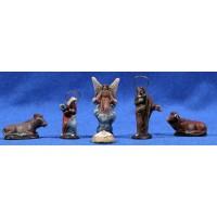 Nacimiento 5 cm barro pintado Figuralia