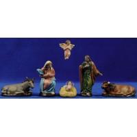 Nacimiento M2 9 cm barro pintado Figuralia