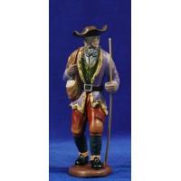 Pastor con bolsa 16 cm barro pintado Figuralia