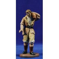 Pastor con saco 16 cm barro pintado Figuralia