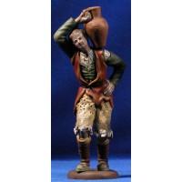 Pastor con jarra 18 cm barro pintado Figuralia