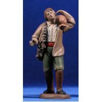 Pastor con saco 18 cm barro pintado Figuralia