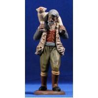 Pastor con cordero 18 cm barro pintado Figuralia