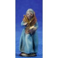 Pastora con zambomba 5 cm barro pintado Figuralia