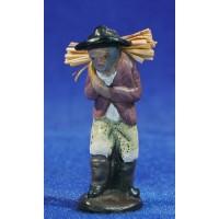 Pastor con leña 5 cm barro pintado Figuralia