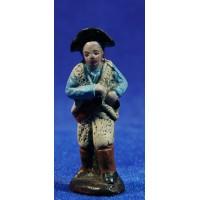 Pastor con castañuelas 5 cm barro pintado Figuralia
