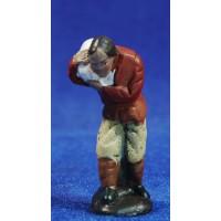 Pastor con saco 5 cm barro pintado Figuralia