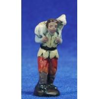 Pastor con cordero 5 cm barro pintado Figuralia