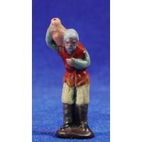 Pastor con jarra 5 cm barro pintado Figuralia