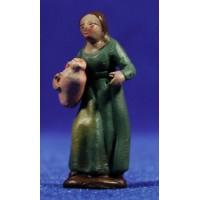 Pastora con jarra 5 cm barro pintado Figuralia