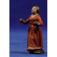 Pastora con castañuelas 5 cm barro pintado Figuralia