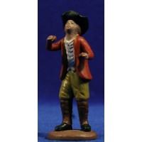 Pastor músico con castañuelas 9 cm barro pintado Figuralia