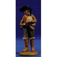Pastor musico con gaita 9 cm barro pintado Figuralia