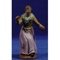 Pastora músico con castañuelas M1 9 cm barro pintado Figuralia