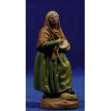 Pastora con zimbomba 9 cm barro pintado Figuralia