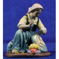 Lavandera 16 cm barro pintado Figuralia
