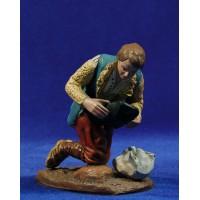 Pastor adorando con saco 16 cm barro pintado Figuralia