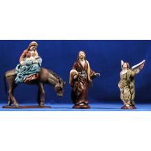 Huida a Egipto 16 cm barro pintado Figuralia