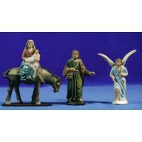 Huida a Egipto 9 cm barro pintado Figuralia