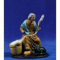 Hilandera 9 cm barro pintado Figuralia