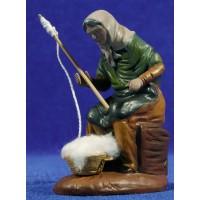 Hilandera 12 cm barro pintado Figuralia